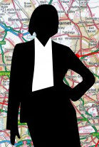 business-woman-map